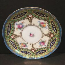 Porcelain Saucer Multicolored With Gold Design