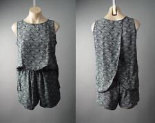 Sale Black Ivory Geometric Pattern Tailored Party Dress Shorts 146 mv Romper S L