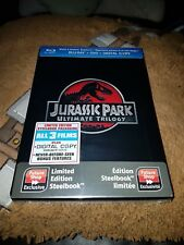 Jurassic Park Ultimate Trilogy Exclusive Steelbook Blu-Ray DVD New Rare OOP