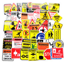 50Pcs Sign Decal Stickers Logo And Warning For Car Bicycle Fridge Guitar Styl BF