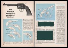 1965 IVER JOHNSON Model 50 REVOLVER Exploded View Parts List Assembly Article