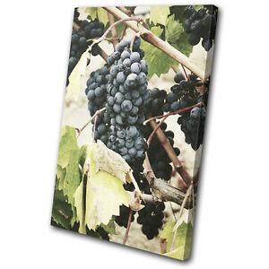 Grapes Garden Nature Food Kitchen SINGLE CANVAS WALL ART Picture Print