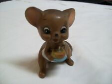 Vintage Josef Originals Mouse Village HappyBirthday Cake 1 Candle Mint Condition