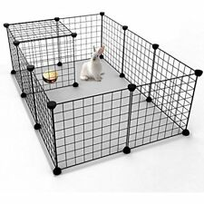 Pet Playpens Playpen, Small Animal Cage Indoor Portable Metal Wire Yard Fence 12