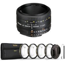 Nikon 50mm f/1.8D AF NIKKOR Lens with Essential Accessory Kit