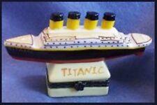 Titanic Steamship-Porcelain Hinged-Box-Nice Coloration