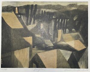 """Wood Engraving 1979 """"Peupliers"""" - Bernard Brussel-Smith"""