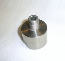Threaded Barrel End for plain BULL barrels (.920) to 1/2-28 TPI - Silver