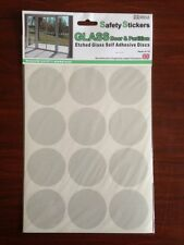 Etched Glass Safety Stickers 60mm Discs x12 GLA001 New