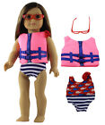 """Doll Clothes for 18"""" American Girl Doll Handmade 3 PCS Lifejacket Outfit"""