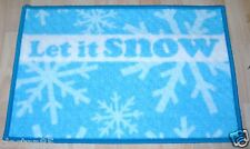 CHRISTMAS LET IT SNOW INDOOR FLOOR PROTECTOR MAT RUG MACHINE WASHABLE  40 x 60cm