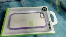 Belkin iPhone 5/5S Case Purple Outline and Transparent Back