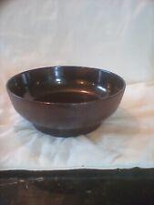 More details for kelley hoppen wedgwood cast iron fruit bowl with dark brown glaze