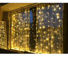 300 LED Fairy String Lights Garden Christmas Weeding Xmas Curtain Window Outdoor