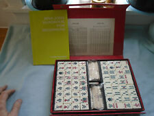 Vintage Futami Kogeisha Cased  Chinese Game  Mahjong 144 Tiles 4 dice