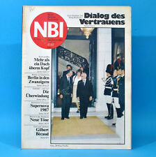 DDR NBI 43 1987 Lübz Gilbert Becaud Supernova Blinde Kamtschatka E. Honecker K