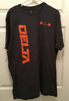 New Virginia UVA Cavaliers Football Team Issued Delta Workout T-Shirt Medium