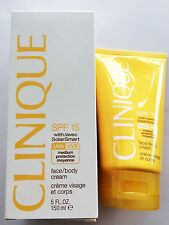 CLINIQUE CREMA CORPO SPF 15 SOLARE SOLARSMART BODY CREAM 150ML SENZA PROFUMO