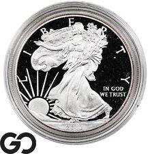 2012-W American Eagle Silver Dollar PROOF, 1 OZ Fine ASE Bullion, Box & CoA