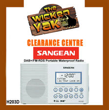 Sangean Waterproof DAB+/FM-RDS Portable Radio+LED Light White H203D Aus Warranty
