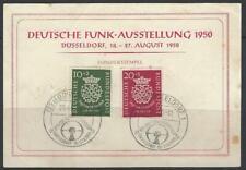 Bund aus 1950 ** MiNr.121-122 200. Todestag Bach Sonderstempel Funkausstellung