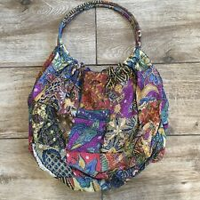 India Boho Hippie Fabric Bag With Round Circular Handle