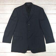 Banana Republic Men 42R Navy Wool Herringbone Pinstripe Modern Fit Blazer Jacket