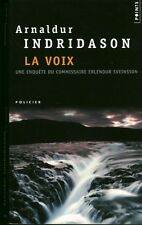 Livre de poche policier Analdur Indridason la voix  book
