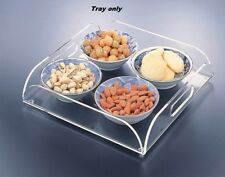 "Huang Acrylic Serving Tray, 12"" x 12"" (0382)"