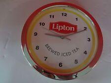 "RARE Decorative LIPTON TEA WALL CLOCK - 10.5"" DIAMETER ***FAST S/H***"