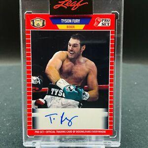 2021 Leaf Pro Set Tyson Fury AUTO Boxing Autograph
