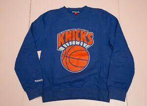 Mitchell & Ness NY Knicks NBA basketball club blue sweatshirt sz men's Small