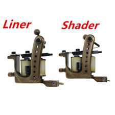 coil tattoo machine tattoo gun brass frame set liner and shader(pack of 2)