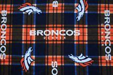1-NFL DENVER BRONCOS PRINTED FLEECE BODY PILLOW CASE/ SOLID BLUE FLEECE BACK