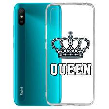Funda Gel Tpu Xiaomi Redmi 9A Queen Corona Dibujo Transparente