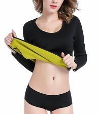 Hot Women Sweat Body Shaper Long Shirt Hot Thermo Slimming Sauna Suit Fat Burner