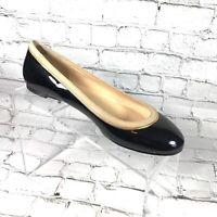 Talbots Ballet Flats Black Patent Leather Shoes Sz 6.5