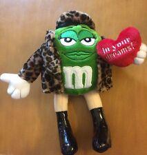 """M&M Plush Green In Leopard Print Jacket 8"""""""