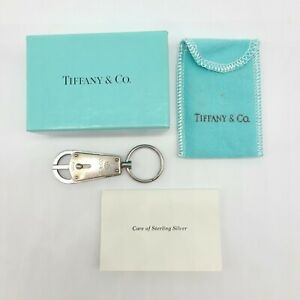 Tiffany & Co Sterling Silver and Stainless Steel 1837 Valet Keychain Key Ring