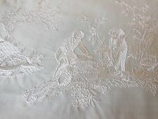 Manuel Canovas Embroidered Toile de Jouy Fabric Sample - La Musardiere Broderie