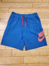 Nike Mens Alumni Fleece Sweat Shorts Blue/red XXL Ar2375-438
