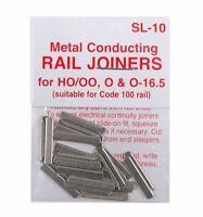 PECO SL-10 (2 Pks) 48 x Fishplates (Track Joiners) Code 100 Track '00' Gauge New