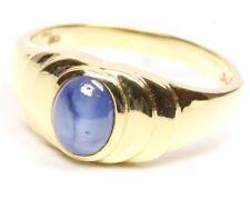 ♦♦ 585 14kt Goldring Saphirring Saphir Safir Gold Ring Sternsaphir Damen Schmuck