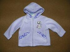 Baby Girls PARK BENCH KIDS Hooded JACKET 12 Months Purple Hoodie Kitty Princess
