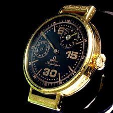 Omega Vintage Mens Wrist Watch Men Regulateur Yellow Gold Men's Wristwatch Swiss
