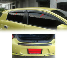 Fit For Mitsubishi Mirage 2012-2015 Carbon Rear Bumper Step Cover+Weather Guard