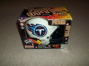 VTG Rare Tennessee Titans Riddell Fiber Optic Mini Helmet Pulsating Team Graphic