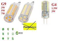 Lampadina G9 G4 Lampada 1.5W 3W 5W 7W SMD LED Bianco Caldo AC220-240V SPINA ECO