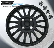 """Wheel Rims Skin Cover 15"""" Inch Matte Black Hubcap -Style 611 15 Inches Qty 4pcs-"""