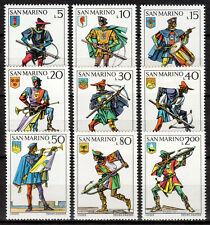 San Marino - 1973 Uniforms & weapons -  Mi. 1046-54 MNH